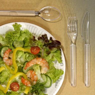 50 Messer, PS 19 cm glasklar-satiniert -Premium-