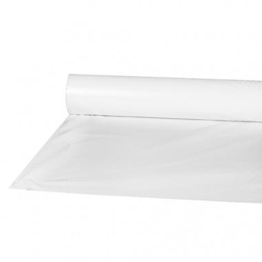 Tischdecke, Folie 50 m x 80 cm weiss für Bierzelt Garnitur