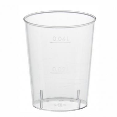 40 Gläser für Schnaps, PS 4 cl Ø 4,2 cm 5,2 cm glasklar