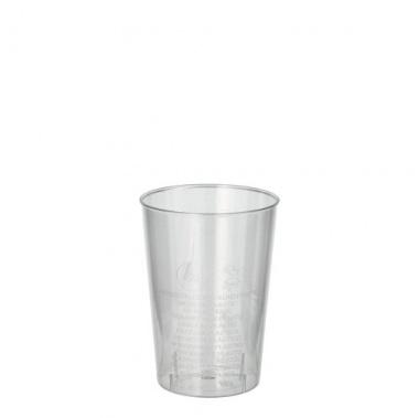 40 Trinkbecher, PS 0,1 l Ø 5,5 cm 7,5 cm glasklar