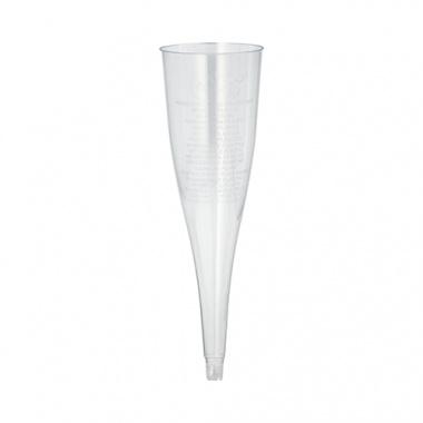 108 Einweg Sektgläser/Sektflöten für Sekt, PS 0,1 l - 17,5 cm glasklar