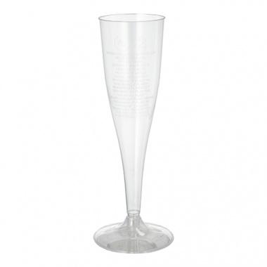 10 Stiel-Gläser für Sekt, PS 0,1 l Ø 5,1 cm 17 cm glasklar einteilig