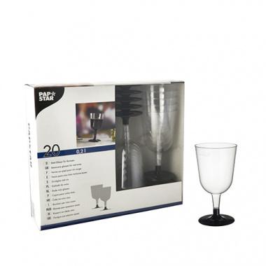 20 Stiel-Gläser für Rotwein, PS -Invitation- 0,2 l Ø 7,35 cm 13,55 cm glasklar