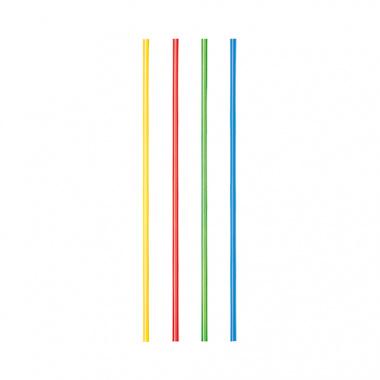 100 Trinkhalme Ø 3 mm 21 cm farbig sortiert