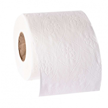 8 Rollen Toilettenpapier, Basic 2-lagiges Tissue 9,5 cm x 11,5 cm naturweiss à 250 Blatt