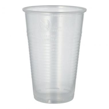 50 Trinkbecher, PP 0,5 l Ø 9,5 cm 13,7 cm transparent mit Schaumrand