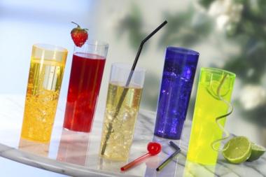 10 Gläser für Longdrinks, PS 0,3 l Ø 5,85 cm 15,2 cm orange