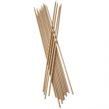 200 Schaschlikspieße / Fleischspieße, Holz Ø 5 mm 40 cm Extra lang