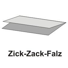 250 Blatt Handtuchpapier 23 cm x 25 cm grau Zick Zack, 1-lagig
