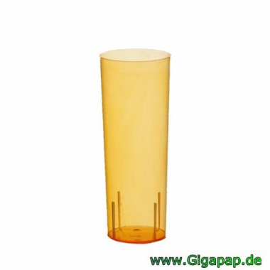 500 Gläser für Longdrinks, PS 0,3 l Ø 5,85 cm 15,2 cm orange- Karton