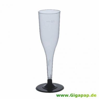 50 Stiel-Gläser (Oberteile) für Sekt, PS 0,1 l Ø 5 cm 17,5 cm glasklar