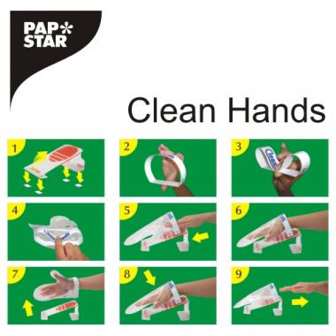 Clean Hands Base Kit Edelstahl 11,5 cm x 12,7 cm x 22 cm silber Handschuhwechselsystem