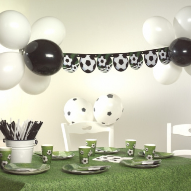 Party-Deko-Set -Soccer-Fußball Girlande 1,3m