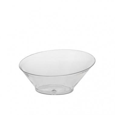 20 Fingerfood - Schalen rund 75 ml Ø 9 cm 3,9 cm glasklar -Diagonal-