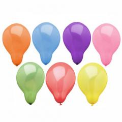 100 Luftballons rund Ø 23 cm farbig sortiert