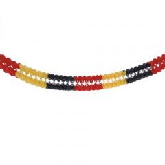 Girlande, Papier Ø 16 cm 4 m schwarz/rot/gelb schwer entflammbar