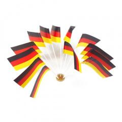 10 Flaggen, Papier 12 cm x 22 cm -Deutschland-