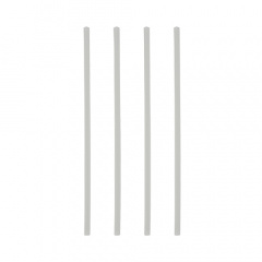 150 Trinkhalme PLA, starr -pure- Ø 6 mm 21 cm weiss