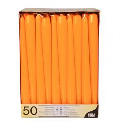 50 Leuchterkerzen Ø 2,2 cm 25 cm orange