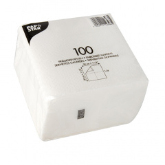 100 Servietten, 1-lagig 1/4-Falz 30 cm x 30 cm weiss