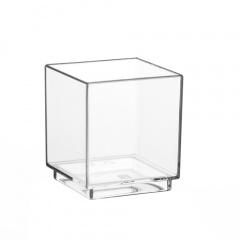 30 Fingerfood - Schalen eckig 4,7 cm x 4,2 cm x 4,2 cm glasklar
