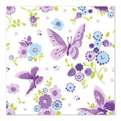 20 Servietten, 3-lagig 1/4-Falz 33 cm x 33 cm -Beautiful Butterfly-