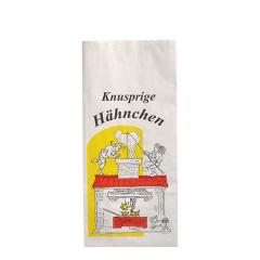100 Hähnchenbeutel, Papier mit Alu-Einlage 23 cm x 10,5 cm x 6 cm weiss -Max & Moritz- 1/2