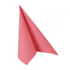 20 Servietten -ROYAL Collection- 1/4-Falz 33 cm x 33 cm rosa