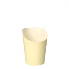 75 Snackbecher, Pappe 0,16 l Ø 7,5 cm 9,9 cm beige -To Go-