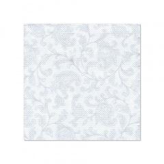 20 Servietten -ROYAL Collection- 1/4-Falz 25 cm x 25 cm weiss -Ornaments-