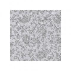 20 Servietten -ROYAL Collection- 1/4-Falz 25 cm x 25 cm grau -Ornaments-
