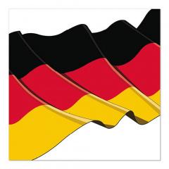 20 Servietten, 3-lagig 1/4-Falz 33 cm x 33 cm -Germany-