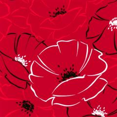 20 Servietten, 3-lagig 1/4-Falz 40 cm x 40 cm -Red Passion-