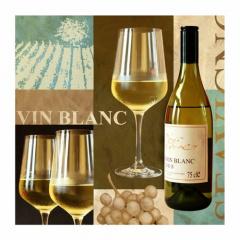 50 Servietten, 3-lagig 1/4-Falz 25 cm x 25 cm -Vin Blanc-