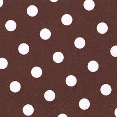 20 Servietten, 3-lagig 1/4-Falz 40 cm x 40 cm braun -Dots-