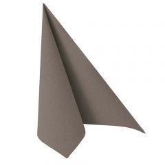 20 Servietten -ROYAL Collection- 1/4-Falz 40 cm x 40 cm grau