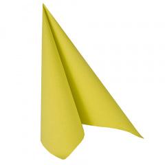 20 Servietten -ROYAL Collection- 1/4-Falz 40 cm x 40 cm limonengrün