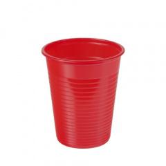 100 Trinkbecher, PS 0,18 l Ø 7,03 cm 8,3 cm rot