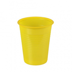 100 Trinkbecher, PS 0,18 l Ø 7,03 cm 8,3 cm gelb