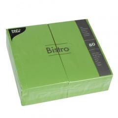 80 Servietten, 2-lagig 1/6-Falz 40 cm x 32 cm olive
