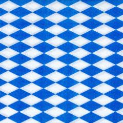 100 Servietten, 1-lagig 1/4-Falz 33 cm x 33 cm -Bayrisch Blau-