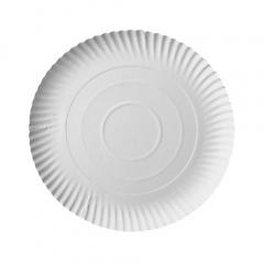 50 Teller, Pappe -pure- rund Ø 24 cm 2 cm weiss