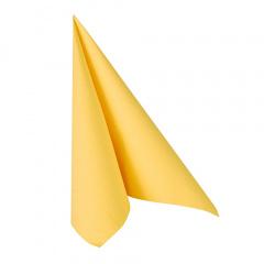 20 Servietten -ROYAL Collection- 1/4-Falz 33 cm x 33 cm gelb