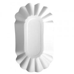 250 Schalen, Pappe -pure- oval 10,5 cm x 20 cm x 3,5 cm weiss