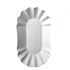 250 Schalen, Pappe -pure- oval 10,5 cm x 17,5 cm x 3 cm weiss