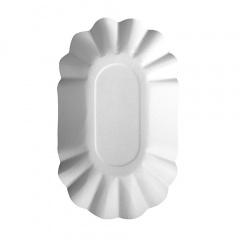 250 Schalen, Pappe -pure- oval 9 cm x 16 cm x 3 cm weiss