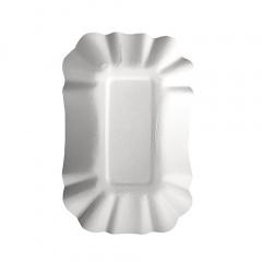 250 Schalen, Pappe -pure- eckig 9 cm x 14 cm x 3 cm weiss