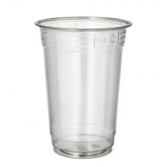 50 Trinkbecher -Hurricane- PET 0,4 l Ø 9,5 cm 12,5 cm glasklar