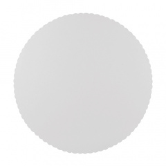 100 Tortenunterlagen, Pappe -pure- rund Ø 28 cm weiss mit gezacktem Rand