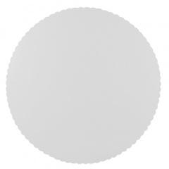 100 Tortenunterlagen, Pappe -pure- rund Ø 30 cm weiss mit gezacktem Rand